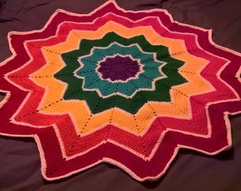 Rainbow Star Blanket