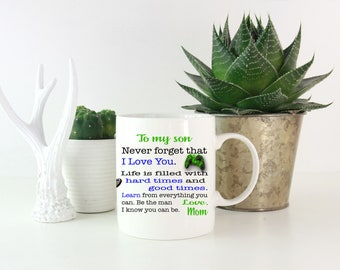 To My Son Coffee Mug, Gift For Son, Son Coffee Cup, Gift from Mom, Valentines Day Gift, BMX Mug, For My Son Gift, Gift for Him