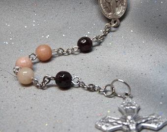 Marble and Garnet Rosary