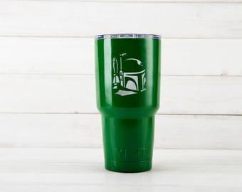 Yeti Cup, Star Wars Boba Fett Etched Yeti Mugs, Boba Fett Birthday Gift, Custom Yeti cups With Boba Fett Engraved, Boba Fett Gift For Him