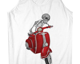 Vespa Skull Scooter Men's Tank Top