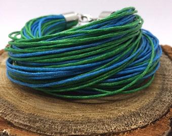 Two in One Bracelet, Choker, Necklace, Cord Bracelet, Natural, Organic Bracelet, Bumdle Bracelet