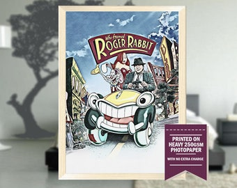 who framed roger rabbit fan art roger rabbit print roger rabbit movie - Who Framed Roger Rabbit Movie