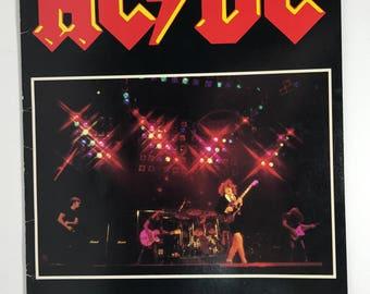 1980-81 | AC DC World Tour Concert Program | vintage