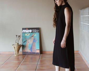 Vintage 90s Minimalistic Black Dress