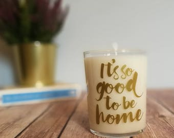 Hygge Gift / Candle / Hygge Decor / Scandinavian Decor / Housewarming Gift / New Home Gift / Our First Home / Quotes About Home / Soy Wax