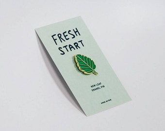 Fresh Start New Leaf Enamel Pin