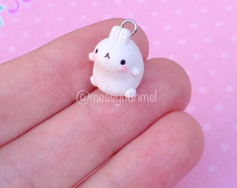 Molang Inspired Bunny Rabbit Plushie Toy Charm Pendant