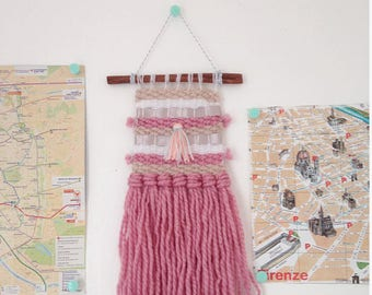 Small cute handmade woven wall hanging