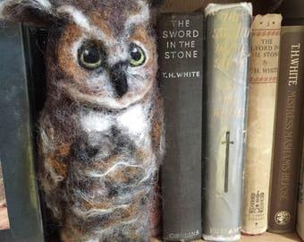 Great Horned Owl/Owl sculpture/Owl/Barn Owl/Needle Felted Owl/Nursery decor/Owl Gift/Owl Lover Gifts/Wool Owl/Owl Ornament/Owl Ornament