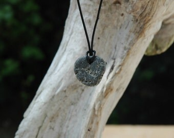 Heart Shaped Irish Hag Stone / Odin Stone Beach Pebble
