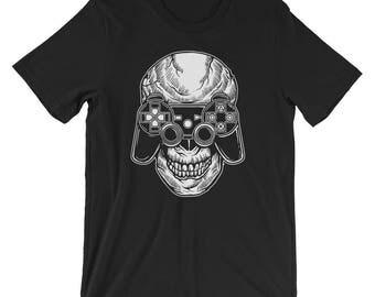 Gamer Skull Short-Sleeve Unisex T-Shirt