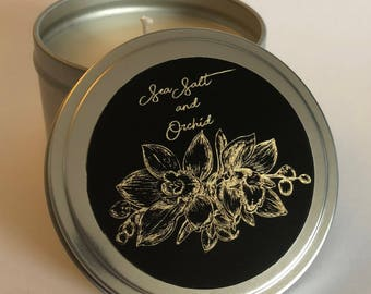 8 fl oz Sea Salt and Orchid Soy Candle in a Candle Tin
