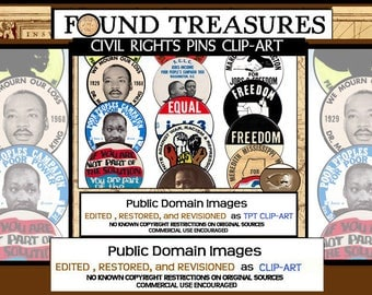 Found Treasures-Vintage Martin Luther King, Jr. and Civil Rights Buttons