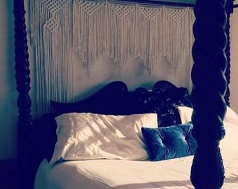 Macrame Backdrop Curtain / Wedding Arbour / Boho Decor Gypsy Style Wall Hanging
