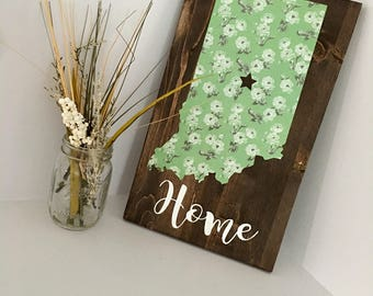 Rustic State Wood Sign (any state available)