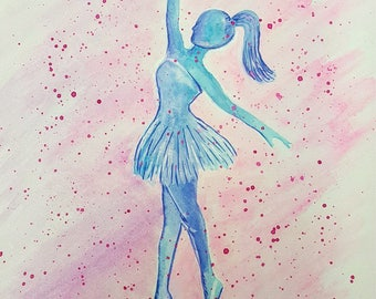 Watercolor Painting:  Tiny Dancer