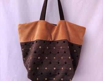 Tote bag, Fabric bag, Medium Size bag, Handmade bag, Unique bag, Upholstery bag, Shoulder bag