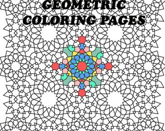 Geometric coloring pages,Adult coloring pages,Abstract coloring page,Pages printable,Coloring page download,Geometric coloring,coloring book