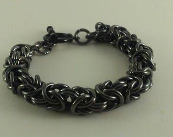 Byzantine Bracelet Antique Silver