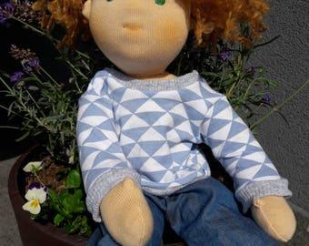 Waldorf doll boy 15 inch steiner doll ready for sale