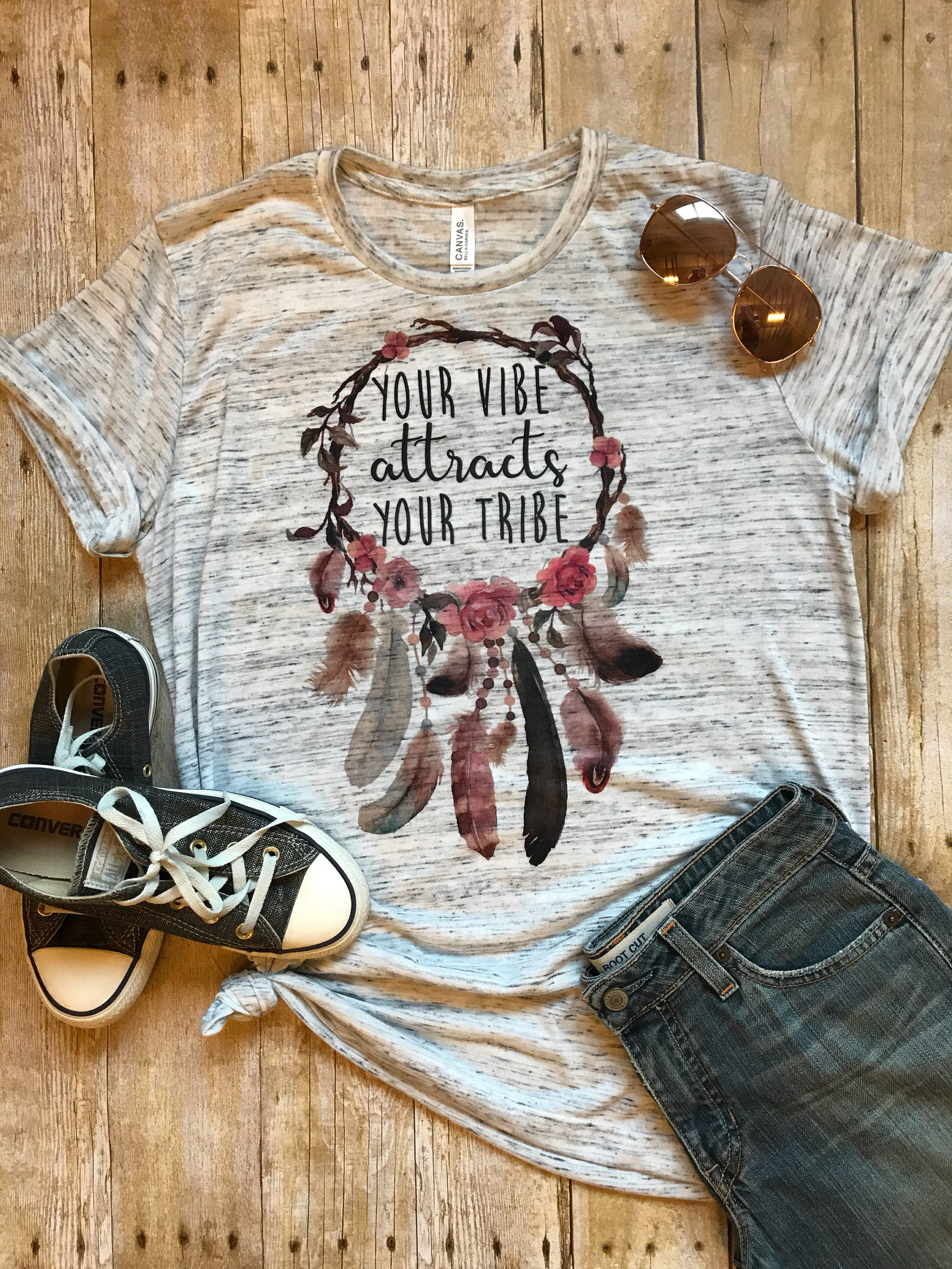Your Vibe Attracts Your Tribe Shirt Workout Shirt Mom Tee