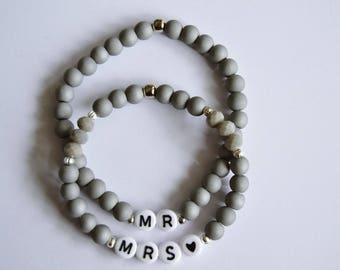 Personalised couple bracelet