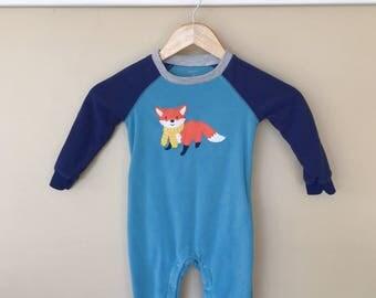 24 Month Knee, Elbow, and Tushie Cushie Fox Sleeper Jammies