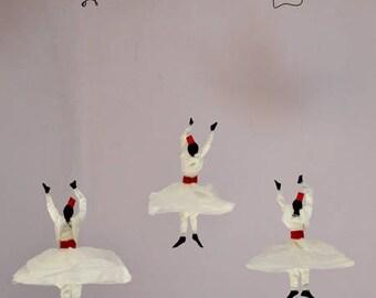 Soul Dance Suspension, decorative mobiles, Whirling Dervish Silk paper
