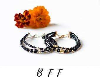 Best Friend Bracelet BFF Gift Morse Code Bracelet Best Friend Gift Beaded Bracelets Secret Message Jewelry Delicate Bracelet for Friends