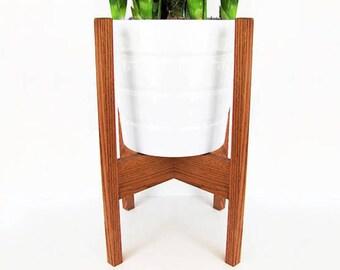 Medium Mid Century Modern Oak Plant Stand
