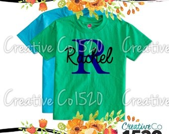 Custom Name T-Shirt |  Monogram T-Shirt | Custom Tee |  T-Shirt With Sayings | Lettered T-Shirt | T-Shirts | Custom Shirt | Monogrammed Tee