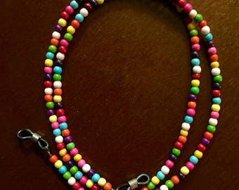 Colorful Beaded Eyeglasses Chain / Glasses Necklace - 26.5 inch