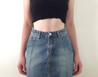 Vintage UnionBay Faded Denim Mini Skirt