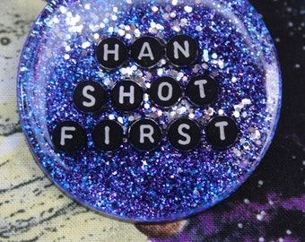 Han Shot First Star Wars Galaxy Pin