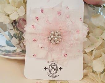 Shabby Tattered Fabric Flower- Rebecca