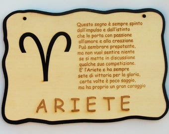 """""""Aries"""" Plate made of plywood and felt"""