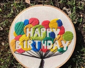 Happy Birthday! Balloons. Colourful. Celebration.