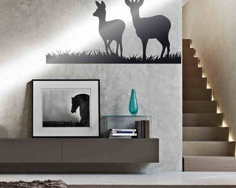 Deers - Wall stickers, wall decals, wall art, wall decor, deers stickers, deers decals, deers pictures, deers wall decor, big stickers