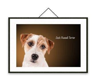 Jack Russell Terrier - Dog breed poster, nursery decor, dog print, wall print, nursery print, shabby print   Tropparoba - 100% made in Italy