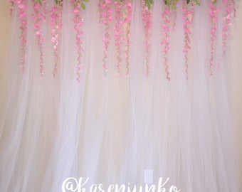 Tulle Backdrop Curtain Photo Booth - Wedding, Bridal Shower, Sweet 16's, Parties