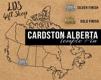 Cardston Alberta Temple Silver Pin