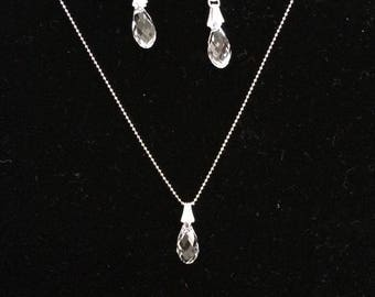 Pure Swarovski Necklace and earrings (sets)