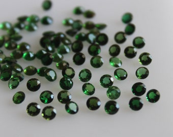 2 mm AAA Green Tourmaline Round  Faceted - Top Grade Gemstone AAA Quality