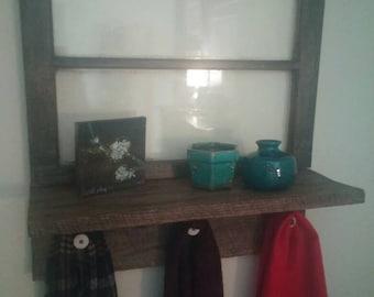 Window shelf coat rack