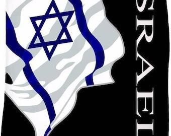 Israel Custom Flag Fleece Blanket
