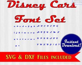 Cars font svg, Disney Cars text, Disney Cars font, disney svg files, cars svg, files for silhouette, files for cricut, lightning mcqueen svg