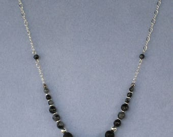 Lava and Obsidian Necklace