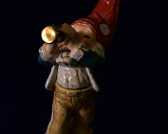 Co-Boy Al the Trumpet Player - good luck house gnome by Goebel