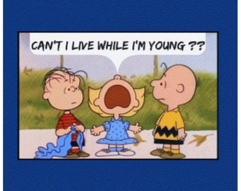 Phish Onesie Chalkdust Torture - Can't I live while I'm young Peanuts Charlie Brown